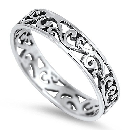 Eternity Celtic Design Fashion Ring New .925 Sterling Silver Band Size 7