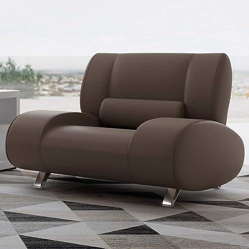 Deal of the week: Zuri Furniture Modern Aspen Brown Microfiber Leather Chair