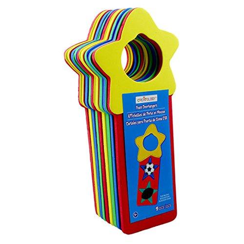 Bright DIY Foam Door Knob Hanger Kit Sports Star- Assorted Colors -2 pc