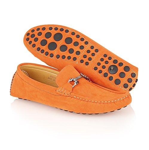 Kengät Lisäosat tyyli Mens 2 Suunnittelija Luistaa Loafers Mokkasiinit Mokka Nro Oranssi Innoittamana HgwXYFq