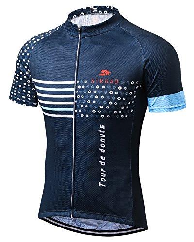 MR Strgao Men's Cycling Jersey Bike Short Sleeve Shirt Size - Pro Jerseys Cycling