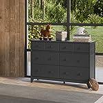 Storkcraft Moss 6 Drawer Universal Double Dresser (White) - Bedroom Furniture Storage, Modern Farmhouse Style, Sturdy…