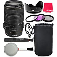 Canon EF 70-300mm f/4-5.6 IS USM Lens For Canon SL1 T6 T6s T6i 7D Mark II 80D 70D 6D 5D Mark III Mark IV 5DS 5DS R DSLR Cameras + Complete Accessory Kit - International Version (No Warranty)
