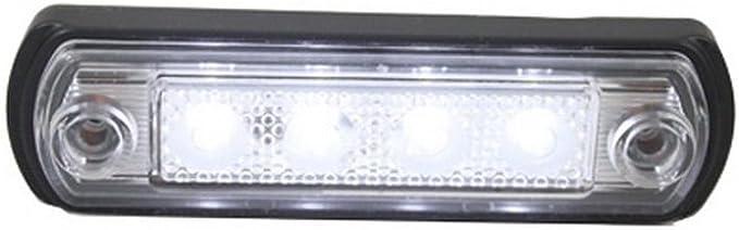 8 X 4 Smd Led Weiß Begrenzungsleuchte Seitenleuchte 12v 24v Mit E Prüfzeichen Positionsleuchte Auto Lkw Pkw Kfz Lampe Leuchte Licht Front Universal Auto