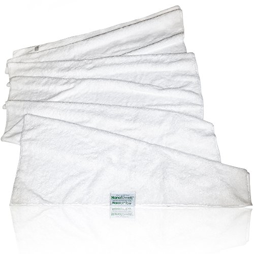 Nano Towels Body Bath & Shower Towel. Huge & Super Absorbent. Wipes Away Dirt, Oil and Cosmetics. Use As Your Sports, Travel, Fitness, Kids, Beauty, Spa Or Salon Luxury Towel. 30 x 55''. by Life Miracle (Image #1)