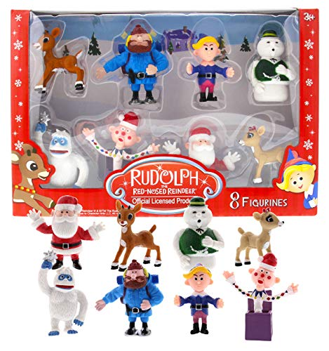 Rudolph the Red Nosed Reindeer Main Characters PVC Figurine Set of 8