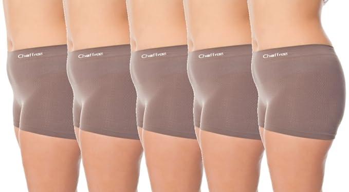 Chaffree Boxers para mujer, ropa interior, suave elástico sin costuras, disponible