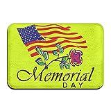 BINGO BAG Memorial Day Indoor Outdoor Entrance Printed Rug Floor Mats Shoe Scraper Doormat For Bathroom, Kitchen, Balcony, Etc 16 X 24 Inch