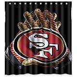 "Custom San Francisco 49ers Cool Design Waterproof Fabric Bathroom Shower Curtain 66""x72"""