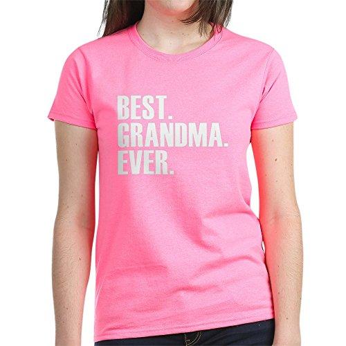 CafePress Best Grandma Ever T-Shirt Womens Cotton T-Shirt Pink