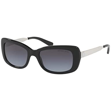 Michael Kors Damen Sonnenbrille Napa 316311, Black/Lightgreygradient, 55
