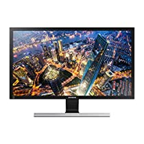 "Samsung U28E570DS - Monitor de 28"" 4K (3840 x 2160 Pixeles, Flicker-Free, FreeSync, HDMIx2, Display Port, 1ms, 60Hz), Negro metálico, plata"