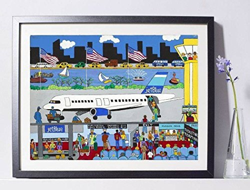 'JetBlue Airlines' Art Painting Print Pat Singer New York PSNY - Home - Nyc Locations Macys