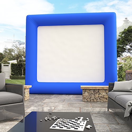 (Airblown Outdoor Inflatable Movie Screen for a Backyard Theater)