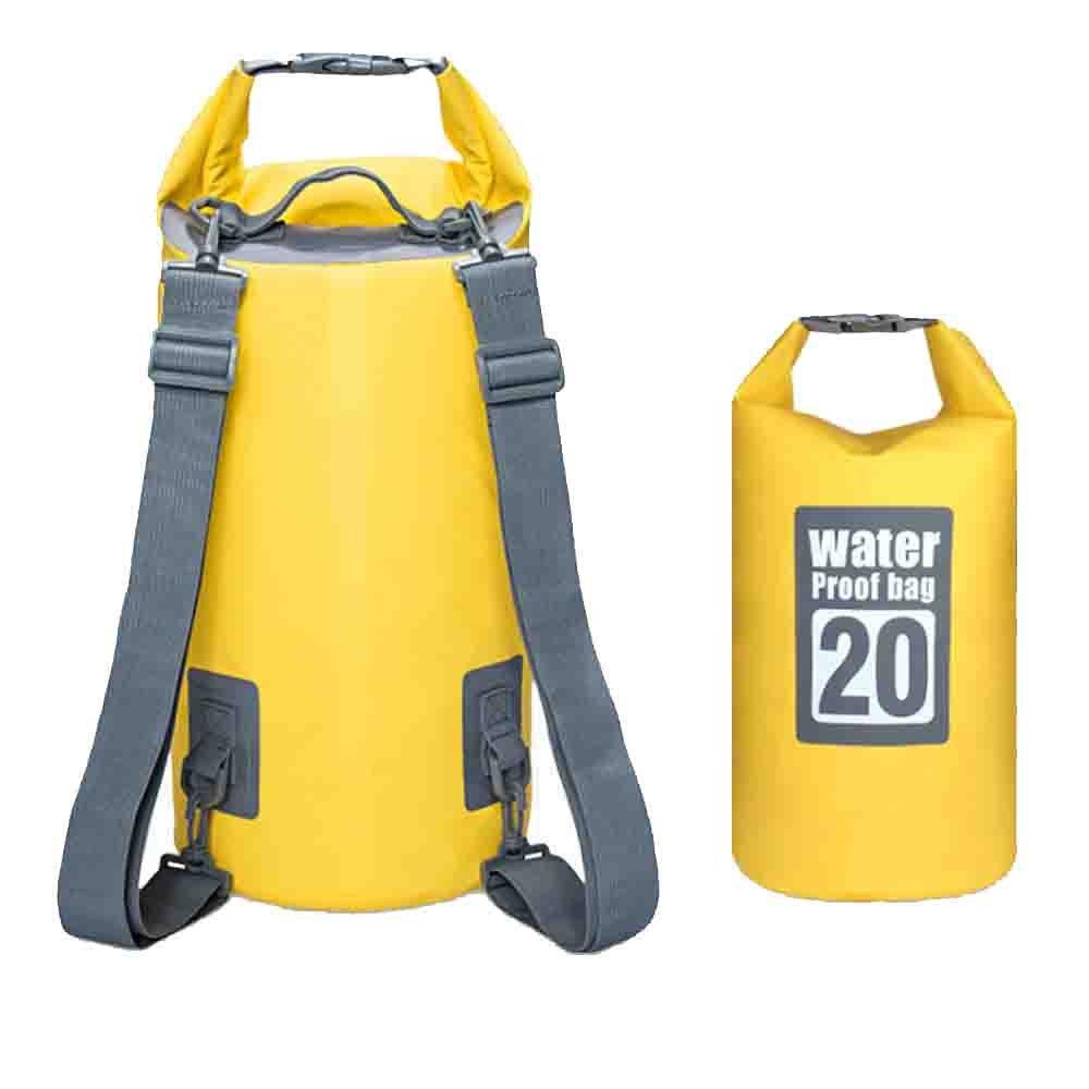 8L und 20L Blau Wasserdicht Roll Top Kompression Sack Packsack Für Camping Camping & Outdoor