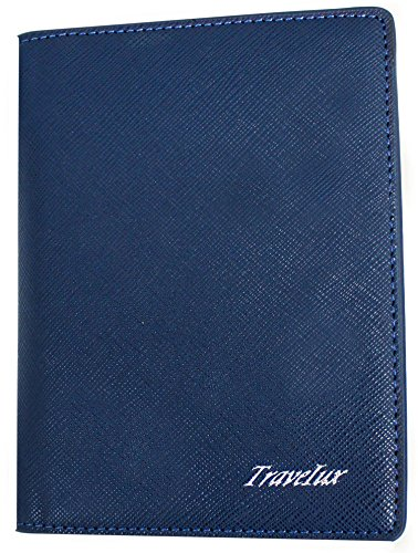 Travelux Ultra Tough Passport Cover with Steel Pen RFID Block