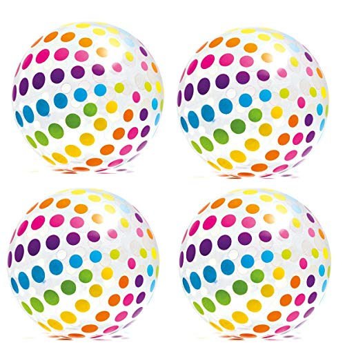 Intex Jumbo Inflatable Big Panel Colorful Giant Beach Ball (Set of 4) | 59065EP -