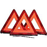 CARTMAN Foldable Warning Triangle Emergency Warning Triangle Reflector Safety Triangle Kit, 3-Pack, NO Storage Case