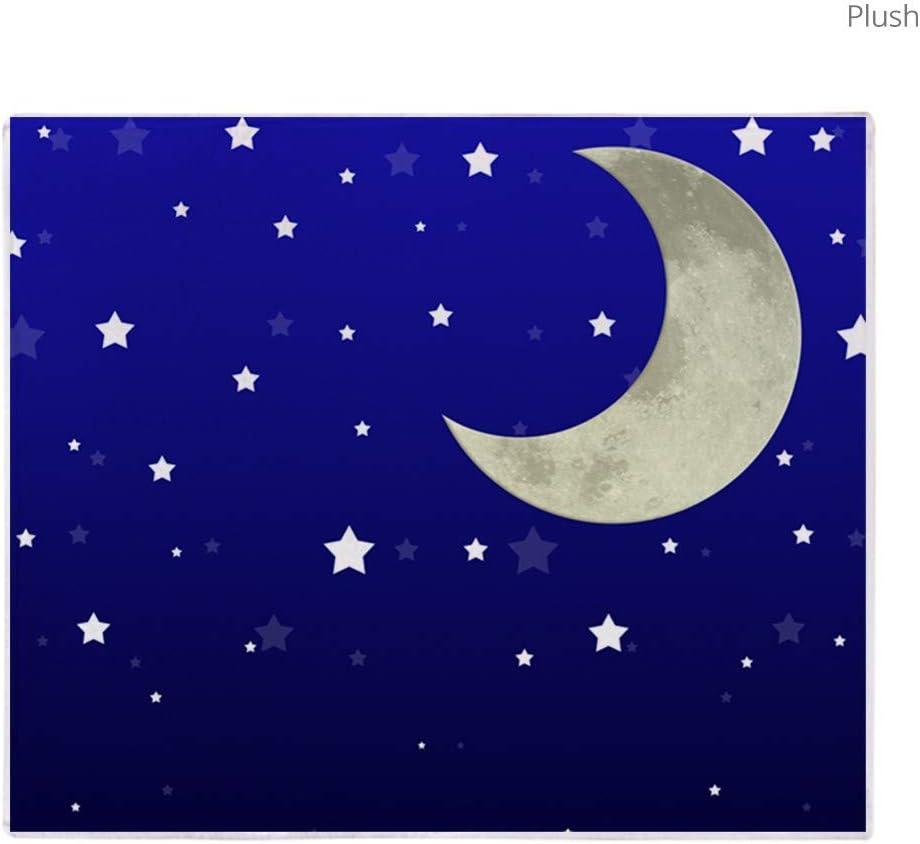 Unicorn Horn Moon Castle Purple Stars Sky Soft Fleece Throw Blanket NEW