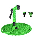 Kalolary 75ft Garden Hose - Expandable Garden Water Hose, Flexible 3 Times Expanding Hose with Triple Layer Latex Core and Latest Improves, Extra Strength Fabric for Washing Car, Watering Flowers