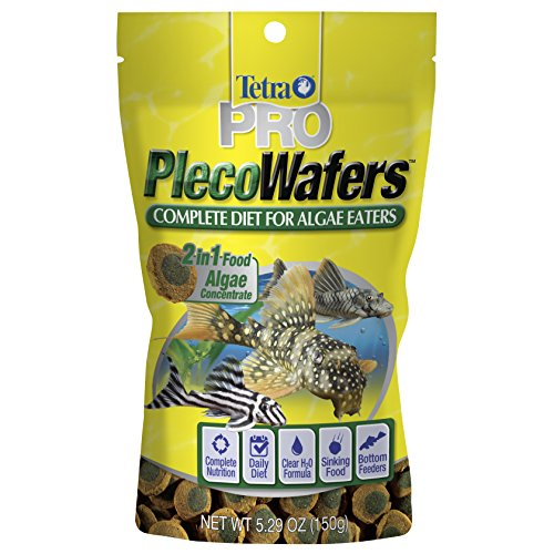 - Tetra PRO PlecoWafers for Algae Eaters, 5.29-Ounce