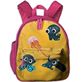 Small School Bags Design With Squids For Kindergarten Boy Girl Pink