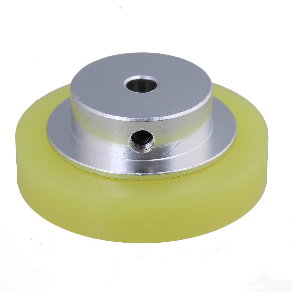 Yibuy Aluminium Silikon Encoder Rad Meter Rad f/ür Rotary Encoder 50/x 6