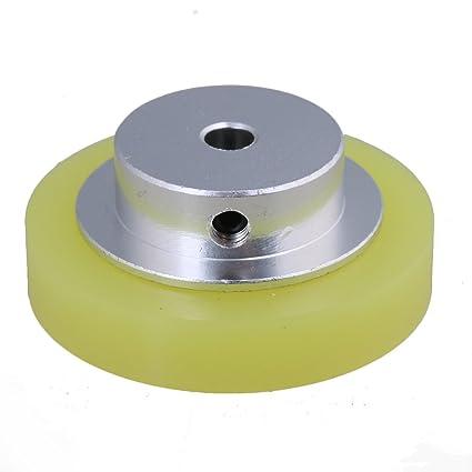 CNBTR 50x6mm Aluminum Silicone Industrial Encoder Wheel Meter Measuring Wheel for Rotary Encoder