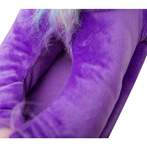 Taglia Unisex Regalo 36 Pantofole Calde Alta Caviglia Cosplay Ciabatte di Luckly a Cloud UK Compleanno Viola4 LED Adulti Halloween Europea di Unicorno Pantofole 41 Peluche WOqpUYRYI
