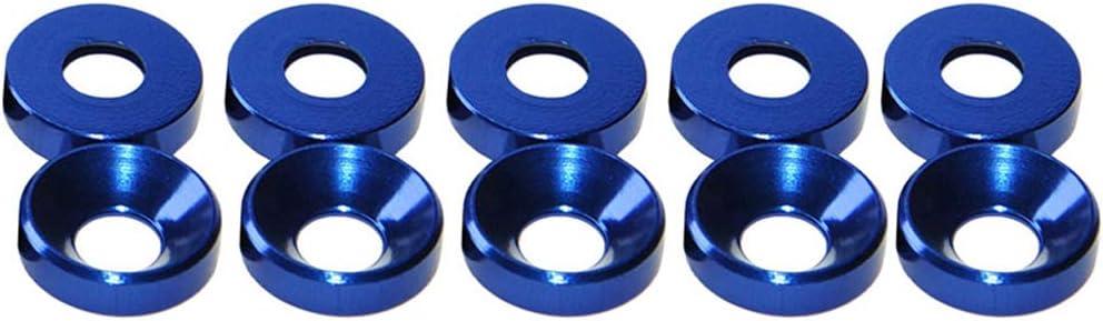 Bleu Royal JunYe /Joint /à rondelle frais/ée /à t/ête frais/ée en Alliage daluminium M2 M3 M4 M5