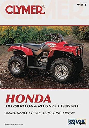 honda trx250 recon recon es 1997 2016 clymer penton staff rh amazon com honda trx 250 repair manual honda trx250ex service manual pdf