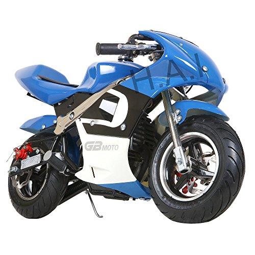 Kid Mini Ninja Gas Power Pocket Bike Motorcycle Ride On Epa Approved 40Cc 4 Stroke Ride On Toy  Blue