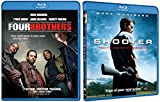 Shooter & Four Brothers [Blu Ray] 2 Pack Mark Walberg Action Movie Set