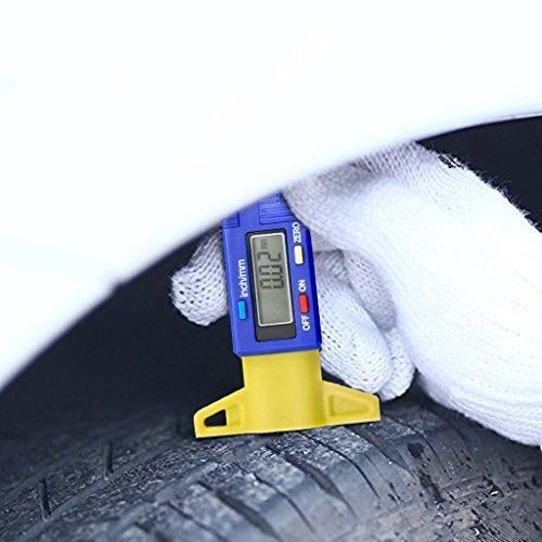 OLLGEN Mini Handheld LCD Digital Tire Tread Depth Gauge,Digital Tyre Gauge Meter Measurer,LCD Display Tread Checker Tire Tester Car Caliper 0-25.4mm Zero Setting Metric/Inch System Interchange by OLLGEN (Image #6)