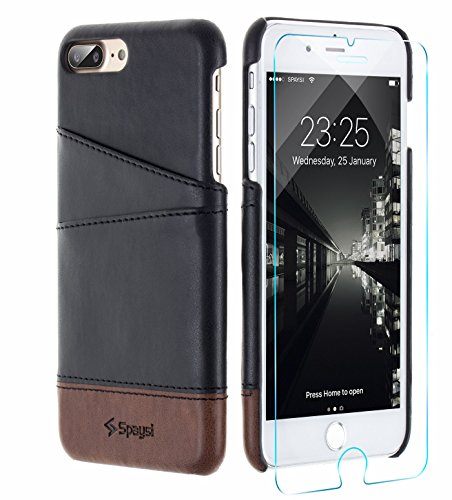 Iphone 7 Plus Wallet Case  Spaysi  Samurai Style  With Mtr  Id Card Slot Holder  Hongkong   Vintage Series  Best Slim Soft Leather Hard Back Cover For Apple 7    Special Edition  Black Brown