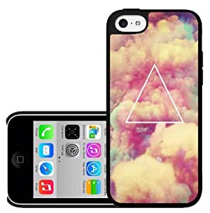 Pretty Peach Skies with Illuminati Triangle Hard Snap on Phone Case (iPhone 5c)