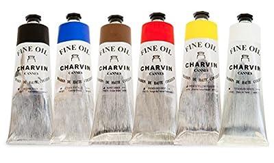 Charvin Fine Oil Colors Value Set of 6 150 ml Tubes