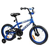 Tauki Kid Bike BMX Bike for Boys and Girls, 16 Inch, Blue, 95% assembled, for 4-8 Years Old