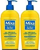Mixa Bébé Gel Très Doux Corps et Cheveux 2en1 250 ml - Lot de 2