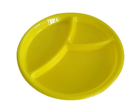 niceeshop(TM) Utensilios Microondas Plástico Duro Placas Dividido Plato Bandeja Ronda Para Los Niños (Color Aleatoriamente)