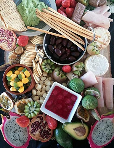 Home Comforts Peel-n-Stick Poster of Feast Food Cheese Platter Party Vivid Imagery Poster 24 x 16 Adhesive Sticker Poster Print