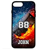 iPhone 6S Case, iPhone 6 Case, ArtsyCase Thunder Water Fire Hockey Puck Personalized Name Number Phone Case for iPhone 6 and iPhone 6S (Black)