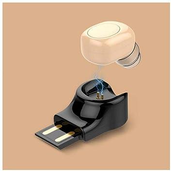 mini auriculares bluetooth inalámbricos con cargador magnético, Auriculares Invisibles In Ear Manos Libres Auriculares con cancelación de ruido ...