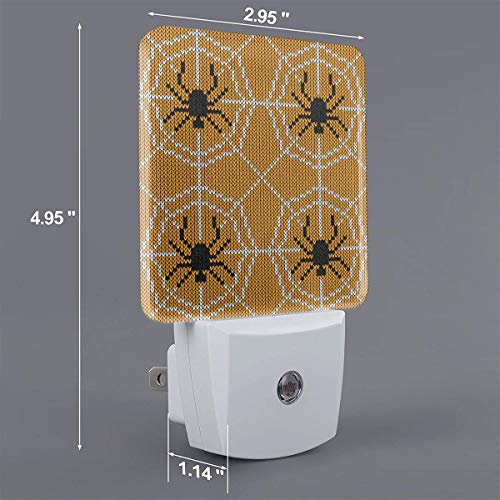 Xiaoyedenggg Halloween Knitted (2) Plug-in Night Light, Warm White LED Nightlight,Dusk-to-Dawn Sensor,Bedroom,Bathroom,Kitchen,Hallway,Stairs,Energy Efficient,Compact -