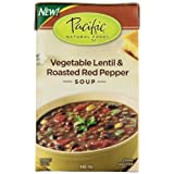 Pacific Natural Foods Organic vegetable lentil & roasted red pepper soup,