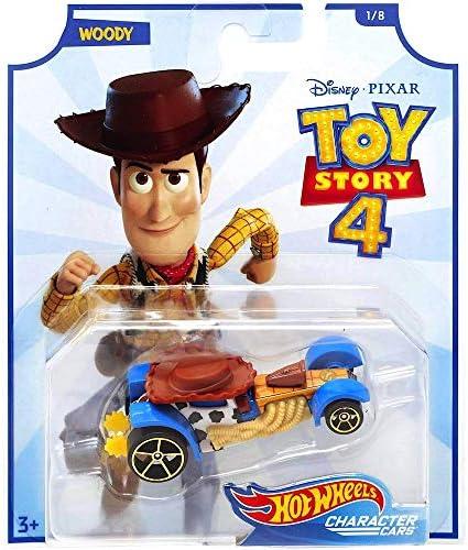 [해외]Hot Wheels HW Pop Culture Woody Toy Story 4 Disney Character Cars Diecast Car 1:64 Scale / Hot Wheels HW Pop Culture Woody Toy Story 4 Disney Character Cars Diecast Car 1:64 Scale
