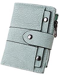 ShenPr Clearance Women Retro Rivets Multifunction Hasp Short Mini Wallet Card Holder Billfold Purse