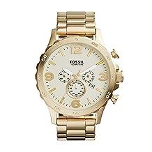 Fossil Men's JR1479 Nate Analog Display Quartz Gold Watch
