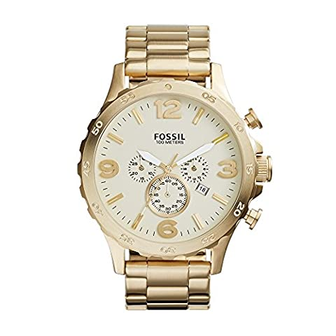 Fossil Men's JR1479 Nate Chronograph Stainless Steel Watch - Gold-Tone (Fossil Watchs Nate)