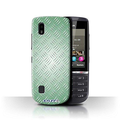 Coque de Stuff4 / Coque pour Nokia Asha 300 / Vert Design / Motif en Métal en Relief Collection